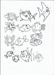 Acquario dei bambini rubiacriarte for Disegni da colorare pesciolini
