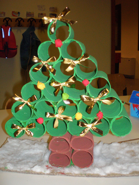 Amato Albero di Natale con rotoli di carta igienica | Rubiacriarte YW08